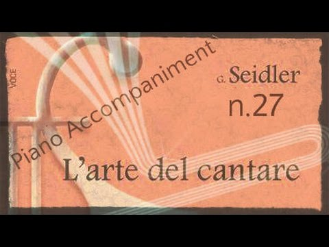 Seidler n.27 - Piano Accompaniment (Play - Along)
