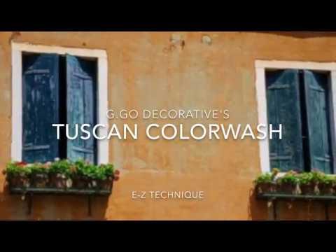 Faux Finish Tuscan Colorwash Easy Technique