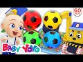 The Colors Song ( Soccer Ball Pool construction) + more nursery rhymes & Kids songs -Baby yoyo