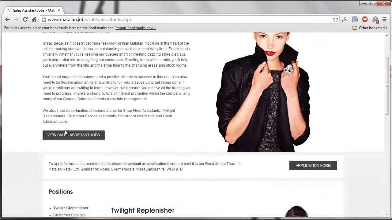 Matalan job application process youtube matalan job application process falaconquin