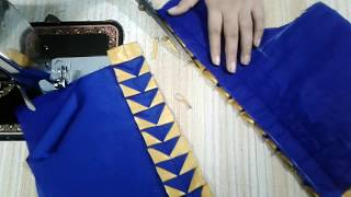 Easy patch work blouse neck designs cutting and stitching || Easy blouse designs
