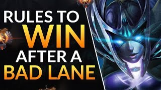 Simple Rules to WIN After a BAD LANE - Pro Tips and Tricks to CARRY | Dota 2 Ranked Lane Guide