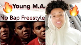 """Young M.A """"No Bap Freestyle"""" (Official Music Video) REACTION!!!"""