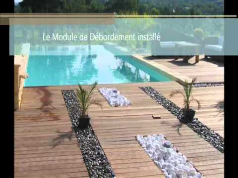 piscine d bordement avec volet o viva youtube. Black Bedroom Furniture Sets. Home Design Ideas