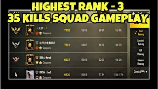 This match took me to 3rd in ASIAN Squad RANKING | PUBG MOBILE