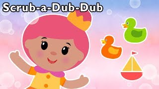 🛀 Scrub-a-Dub-Dub and More | BATH TIME KIDS RHYME | Baby Songs from Mother Goose Club!