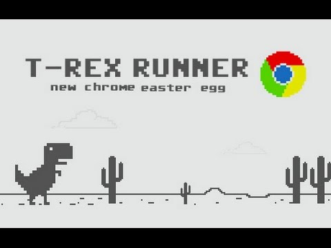 google chrome s t rex no internet easter egg dinosaur game