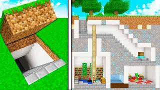how to build a secret house in minecraft