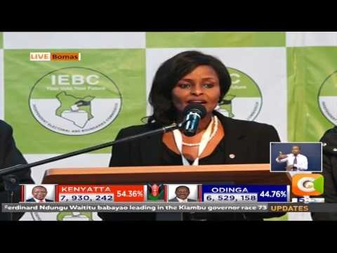 IEBC Vice Chair Updates on the progress at Bomas of Kenya
