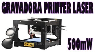 Maquina Gravadora Desenhos Laser 500mW ( NEJE  DK-8 ) thumbnail