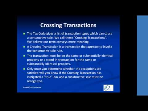 Video clip -- Section 1259(c)(1) Crossing Transactions (Constructive Sales)