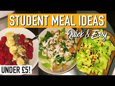 5 Quick, Easy & CHEAP Meals For Students | BUDGET MEALS FOR UNI/COLLEGE