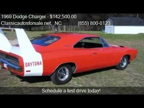 1969 dodge charger daytona for sale in raleigh nc 27603 vnclassics youtube. Black Bedroom Furniture Sets. Home Design Ideas