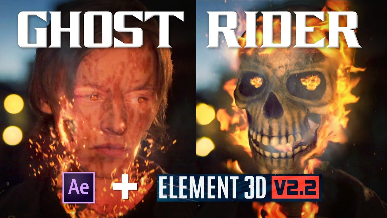 Ghost Rider Effect | Adobe After Effects and Element 3D