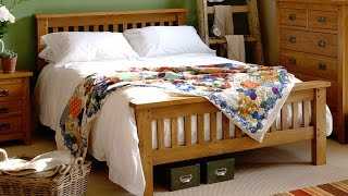 Rustic Oak Double Bed - Pinesolutions