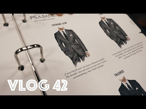 VLOG 42 || CUSTOM SUIT SHOPPING