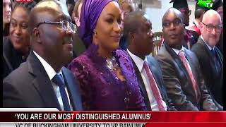 'You Are Our Most Distinguished Alumnus' - VC Of Buckingham University To Dr. Bawumia