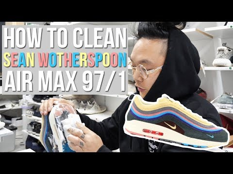 HOW TO CLEAN SEAN WOTHERSPOON AIR MAX'