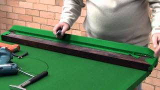 How To Re-cloth A Snooker Billiards Or Pool Table Part 2 Of 4