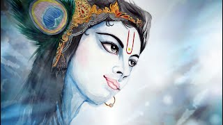 How to Draw Lord Sri KRISHNA [DRAWING, PAINTING & COLORING KRSNA]