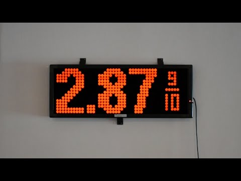 Gas Price LED Sign with Wireless Remote Keyboard