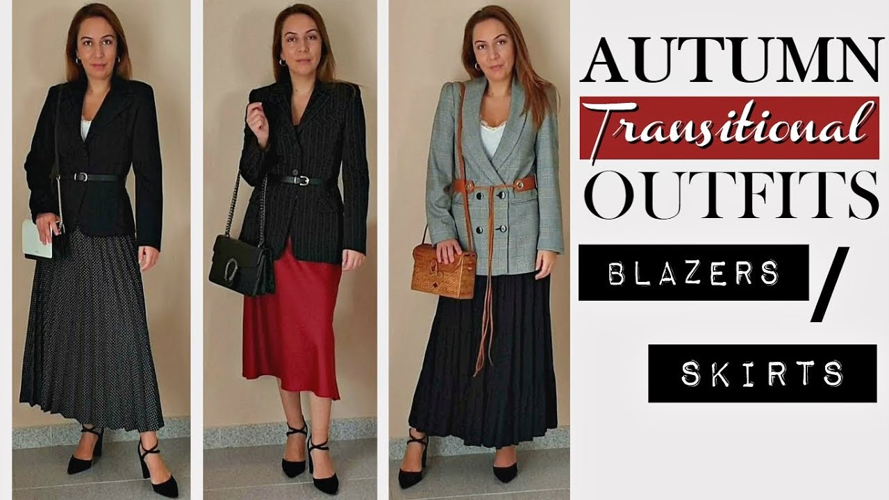 [VIDEO] - AUTUMN GO TO TRANSITIONAL OUTFITS/ZARA, H&M STYLING + TRY ON BLAZERS AND LONG SKIRTS 4
