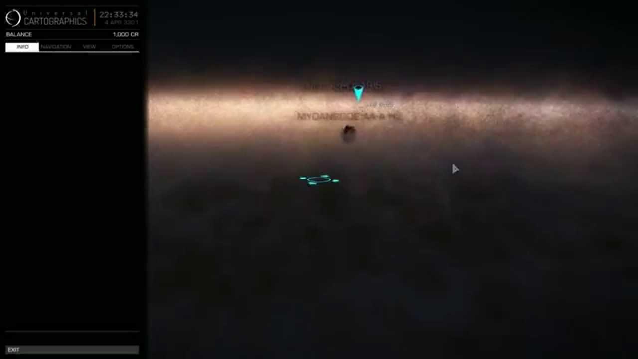 Elite Dangerous Map Elite: Dangerous   First Time Galaxy Map   YouTube