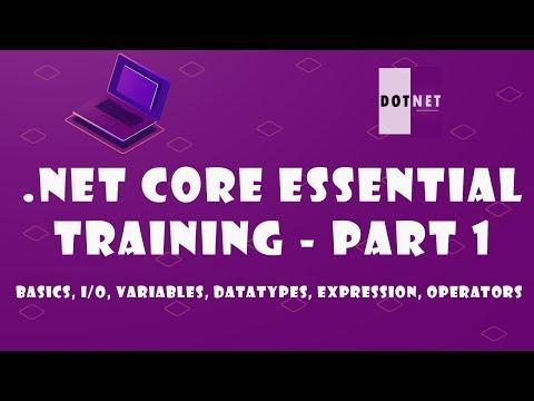 C# Tutorial - .NET Core 3.0 Essential Training  (Part -1) thumbnail