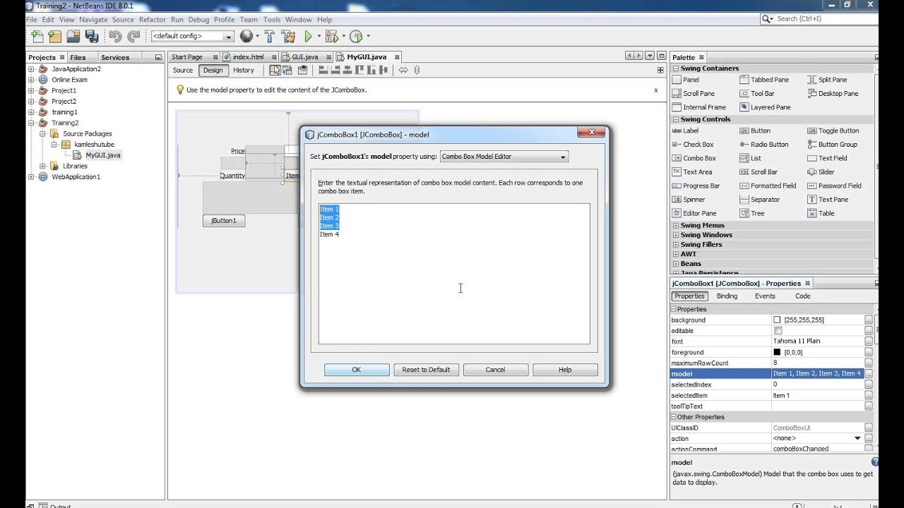 Java Swing Tutorial 1 - Creating GUI with NetBean IDE