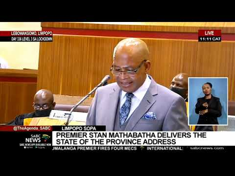 Limpopo SOPA | Premier Stan Mathabatha delivers the state of the province address