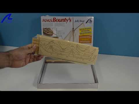 Presentación del kit HMS Bounty Jolly Boat (Artesanía Latina ref. 19004)