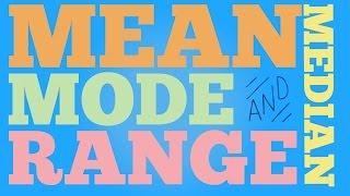 Mean, Median, Mode, & Range (Lazy Song Parody)