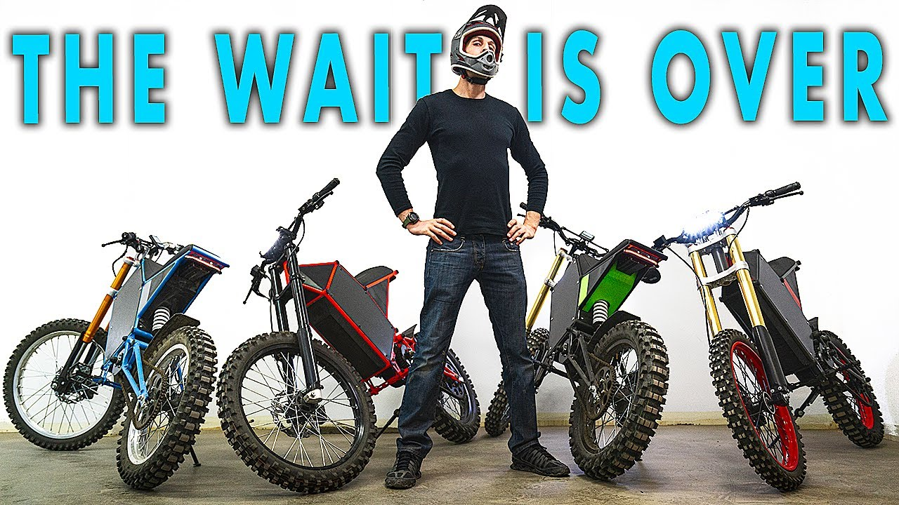 27kW DIY Electric Motorcycle - CyberBike Review, Riding, & Power Demo