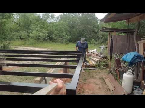 Painting the metal frame Houses Built Tiny