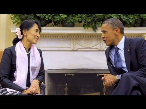 Aung San Suu Kyi meets Barack Obama