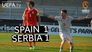 U17 highlights: Spain v Serbia