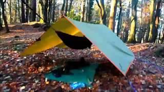 Solo Wild Hammock Camping in Belleek Forest Ballina County Mayo Ireland November 2018