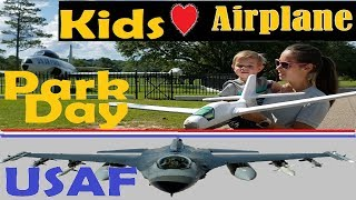 Kids Love Planes and Trains at the Park