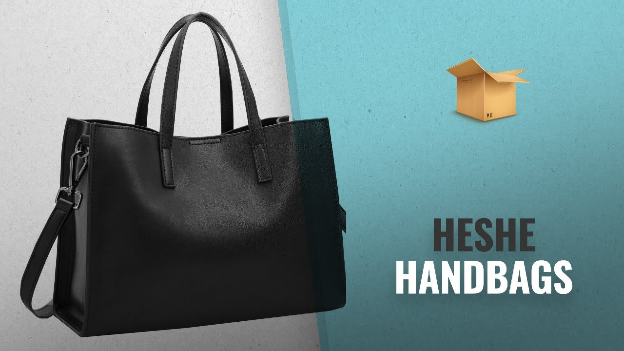 Top 10 Heshe Handbags  2018 Best Sellers   Heshe Women Leather ... 644e665acf735
