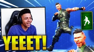 MYTH REACTS *NEW* DIP EMOTE! (YEET DANCE) - Fortnite Best & Funny Moments (Fortnite Battle Royale)