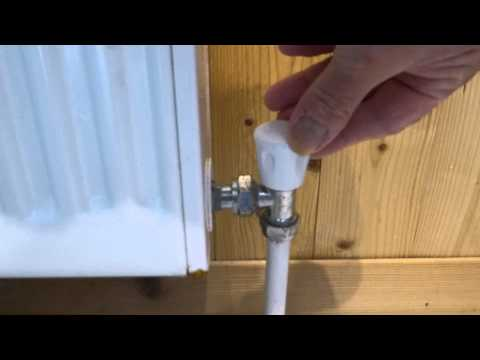 How to turn different radiator valves off
