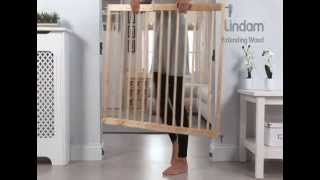 Lindam Wooden Extending Stair Gate - How To Use And How To Insall Video | Babysecurity