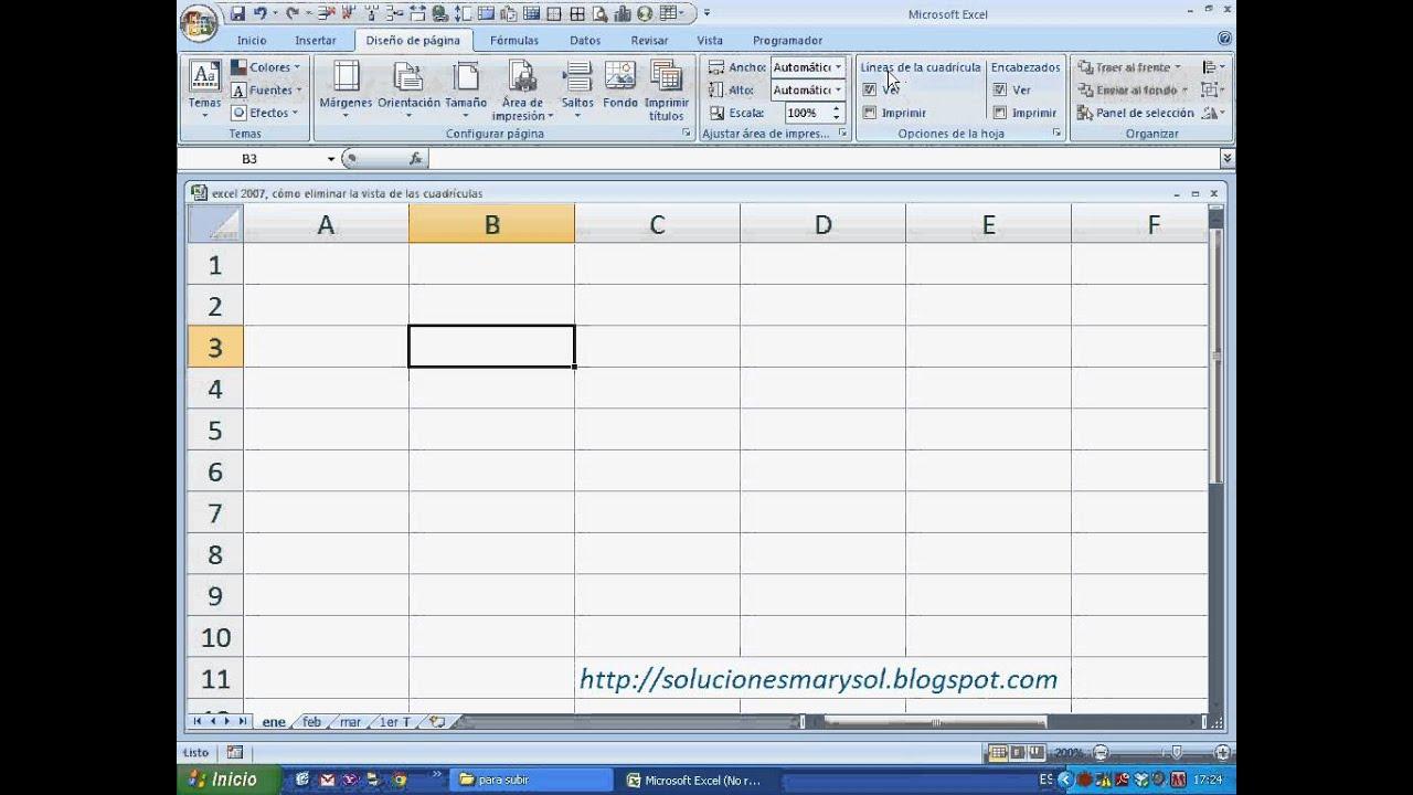 Excel 2007 c mo eliminar la vista de las cuadr culas - Como quitar las humedades de la pared ...