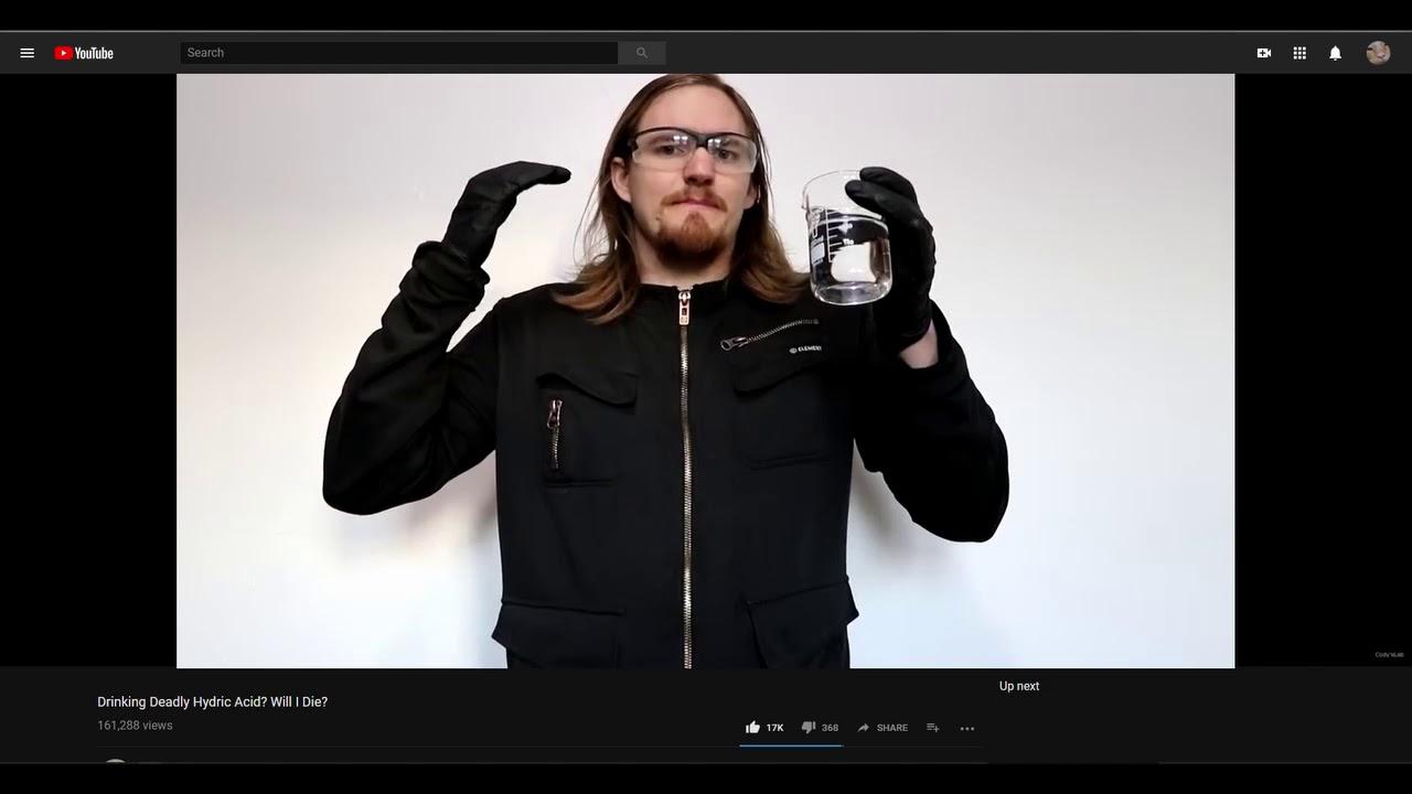 drinking hydric acid meme youtube