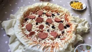Hazır yufkadan bes dakikada pizza