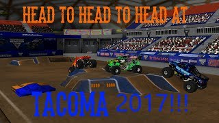 Rigs Of Rods Monster Jam Monster Trucks Head To Head To Head With IrishBulldog422 & Agolf!!