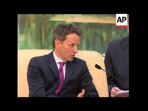 US Treasury Secretary meets Chinese leaders