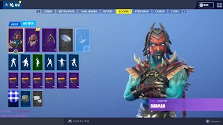 The New SHAMAN Skin Gameplay on Fortnite| Add Me and Join us| Use Code: GAMING_4GOD