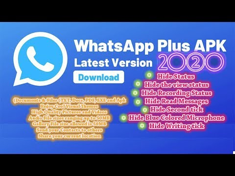 #whatsapp Plus 🔥 Latest Version 2020 For All Android Devices