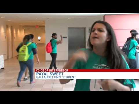 Gallaudet University protests against campus sexual assault